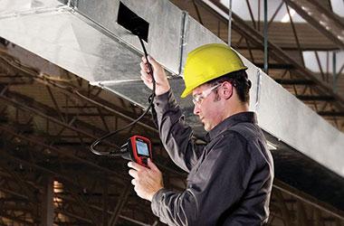 Испытательная лаборатория Новополоцкого КУП «ЖРЭО» проводит периодическую проверку состояния дымовых и вентиляционных каналов