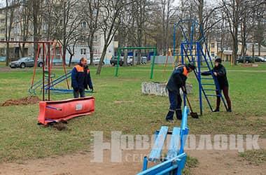 Сколько новых детских горок появится в Новополоцке в апреле?